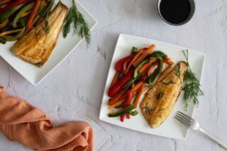 Fileti brancina s povrćem sa sojinim umakom
